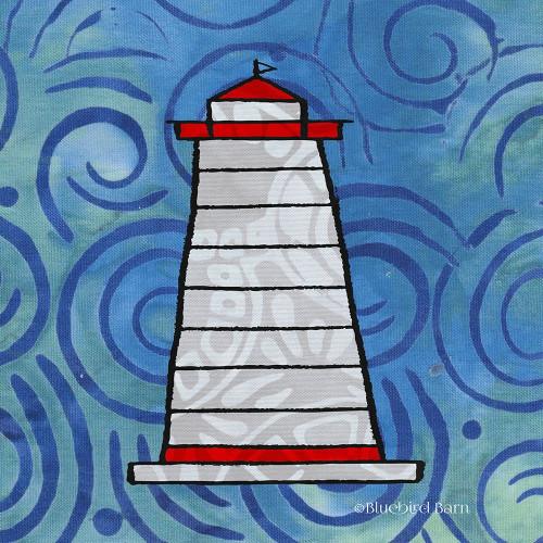 Whimsy Coastal Conch Lighthouse Poster Print by Bluebird Barn Bluebird Barn - Item # VARPDXBLUE317