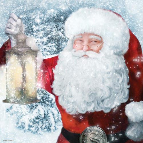 Santa Lantern Poster Print by Bluebird Barn Bluebird Barn - Item # VARPDXBLUE347