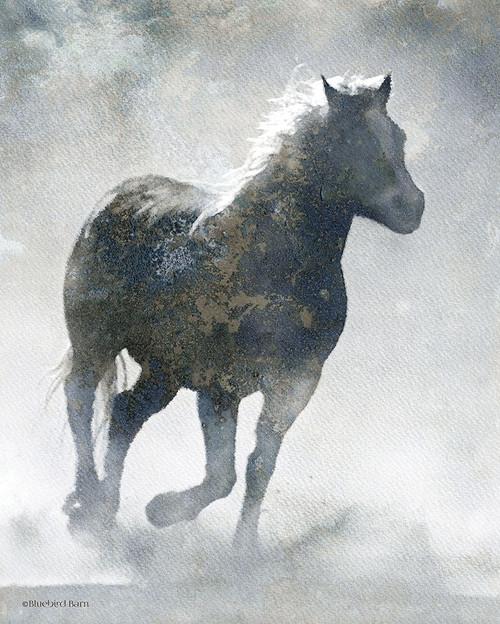 Textured Dark Running Horse Poster Print by Bluebird Barn Bluebird Barn - Item # VARPDXBLUE392