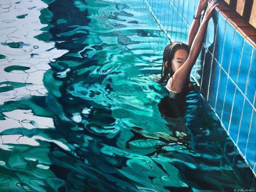 Pool 6 Poster Print by Brigitte Yoshiko Pruchnow - Item # VARPDXBPR06X