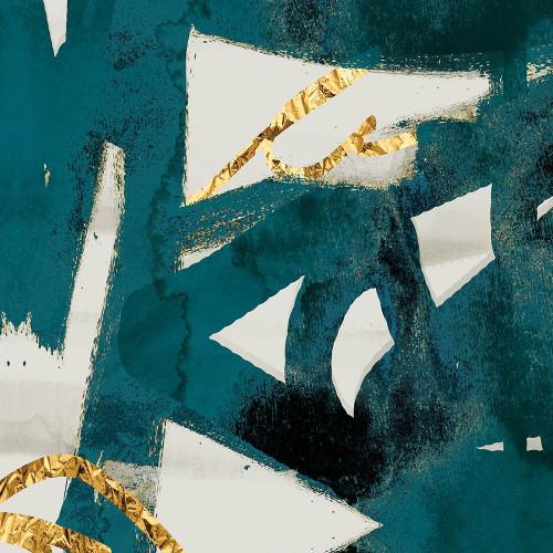 Teal and Flare Square B Poster Print by Cynthia Alvarez - Item # VARPDXCC5SQ006B