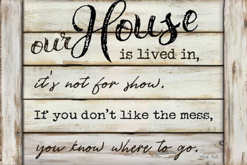 Our House is Lived In Poster Print by Cindy Jacobs - Item # VARPDXCIN1046