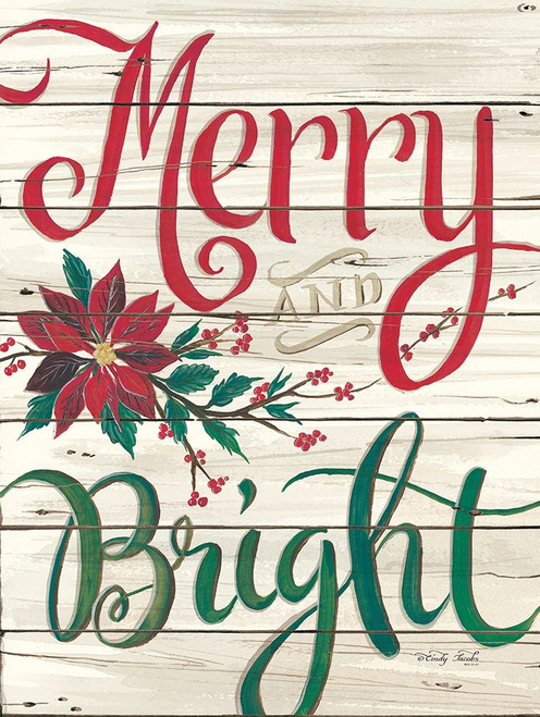 Merry and Bright Shiplap Poster Print by Cindy Jacobs - Item # VARPDXCIN1247