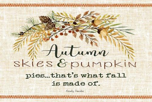 Autumn Skies Poster Print by Cindy jacobs - Item # VARPDXCIN1451