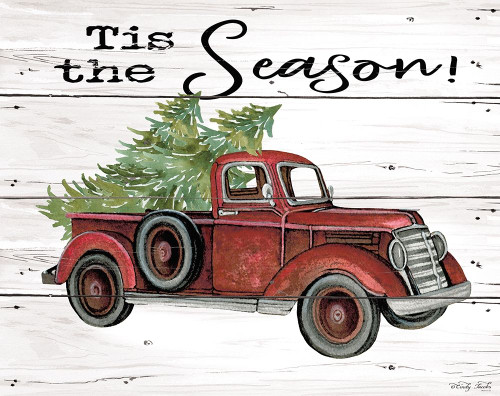 Tis the Season Red Truck Poster Print by Cindy Jacobs - Item # VARPDXCIN1648