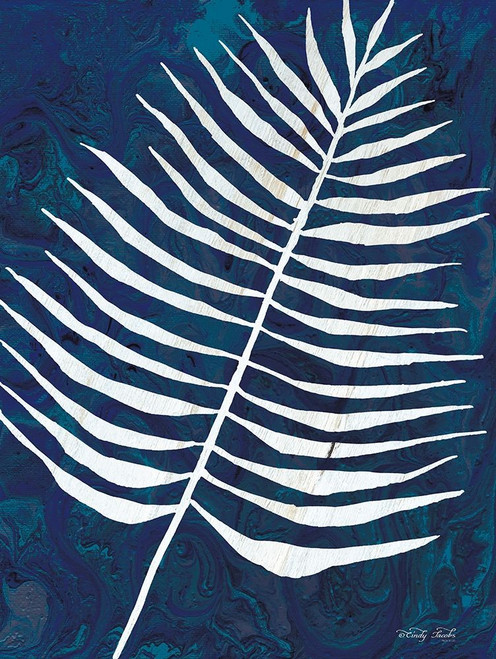 Navy Areca Leaf Poster Print by Cindy Jacobs - Item # VARPDXCIN1711