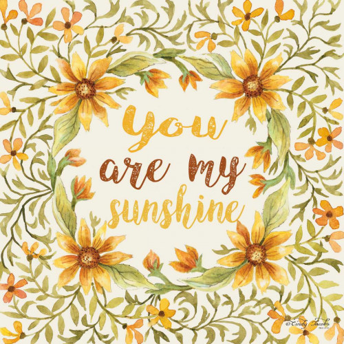 You Are My Sunshine Poster Print by Cindy Jacobs - Item # VARPDXCIN312A