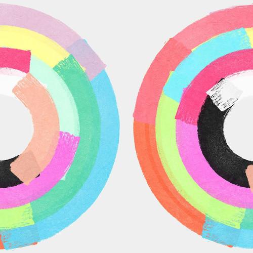 Polychromatic Partners I Poster Print by Christine Essue - Item # VARPDXCJ048A