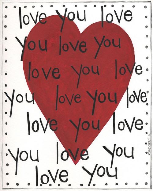 Love You Poster Print by Cindy Shamp - Item # VARPDXCS2600