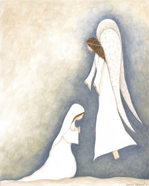 Mary and Angel Poster Print by Cindy Shamp - Item # VARPDXCS2630
