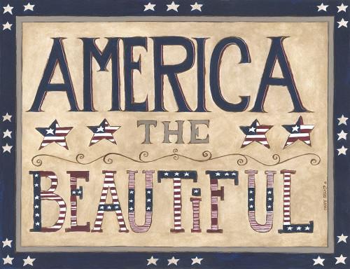 America the Beautiful Poster Print by Cindy Shamp - Item # VARPDXCS2646