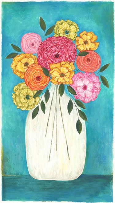 Bright Flowers - Teal Background II Poster Print by Cindy Shamp - Item # VARPDXCS2655