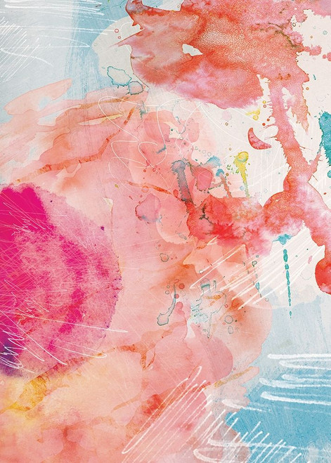 Abstract Turquoise Pink No. 1 Poster Print by Louis Duncan-He - Item # VARPDXD1967D
