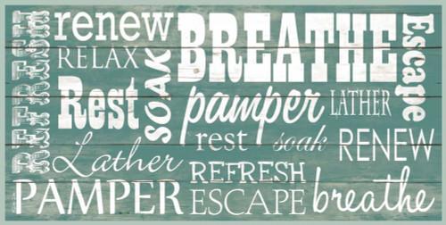 Bathroom Typography Poster Print by Dee Dee Dee Dee - Item # VARPDXDD1461