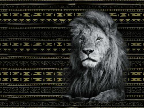 Patterned Lion Poster Print by Dee Dee Dee Dee - Item # VARPDXDD1470