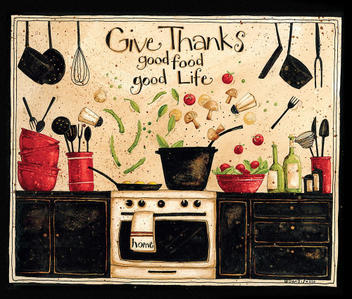 Give Thanks Good Food Poster Print by Dan DiPaolo - Item # VARPDXDDPRC577