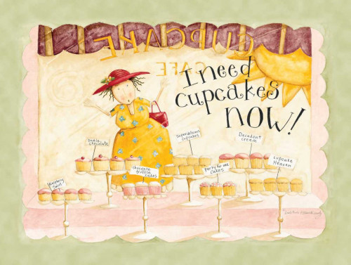 Need Cupcakes Now Poster Print by Dan DiPaolo - Item # VARPDXDDPXRC136A