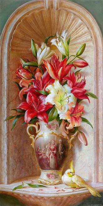 Lilies Poster Print by Olga Dandorf - Item # VARPDXDO10