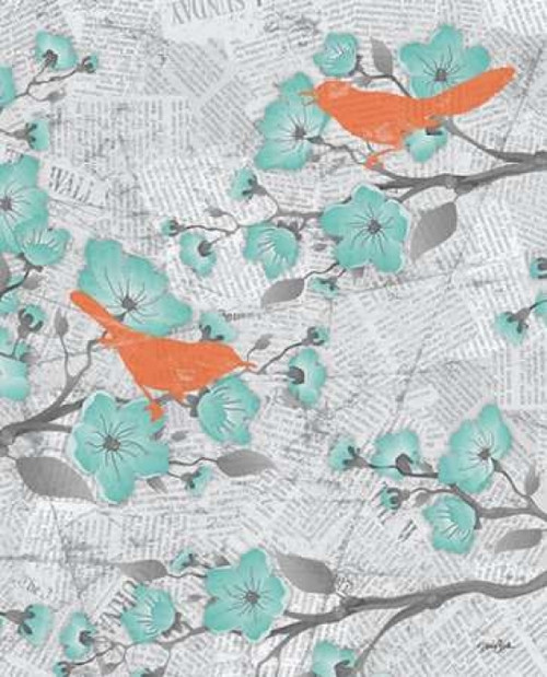 Cherry Blossom Birds 6 Poster Print by Diane Stimson - Item # VARPDXDSRC257R6