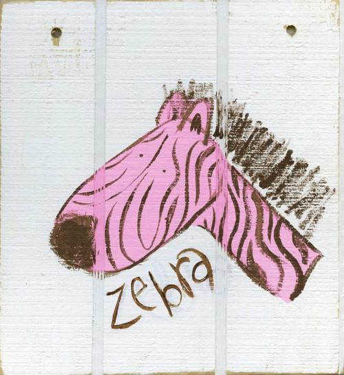 Happy Pink Zebra Poster Print by Erin Butson - Item # VARPDXEB5SQ003D2