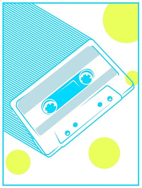 Cassette Poster Print by Enrique Rodriquez Jr - Item # VARPDXERJRC034B