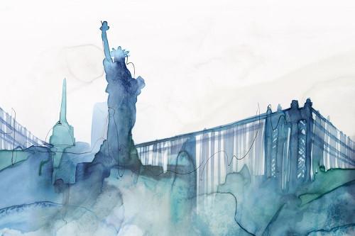 Ocean Blue New York  Poster Print by Isabelle Z Isabelle Z - Item # VARPDXEZ525A