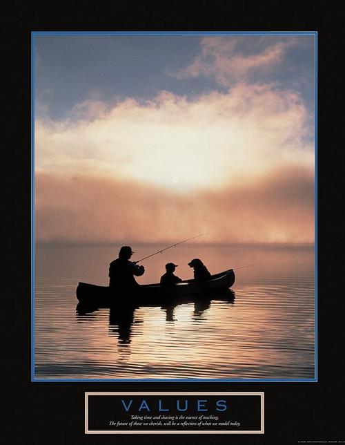 Values - Fisherman, Son and Dog Poster Print by Unknown Unknown - Item # VARPDXF101829