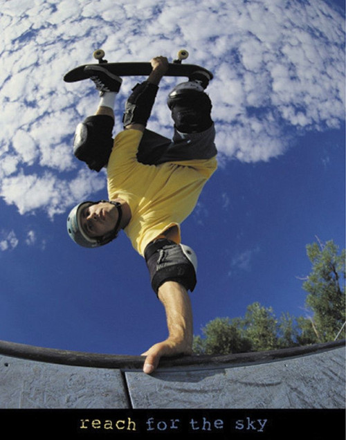 Reach for the Sky - Skateboarder Poster Print by Unknown Unknown - Item # VARPDXF102146