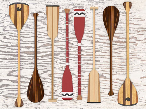 Canoe, Paddles and Oar Poster Print by Edward M. Fielding - Item # VARPDXF749D