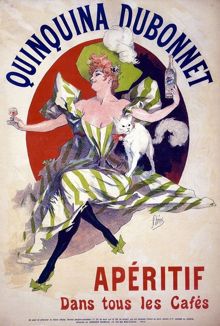 Quinquina Dubonnet Aperitif Poster Print by Jules Cheret - Item # VARPDXFAF1341