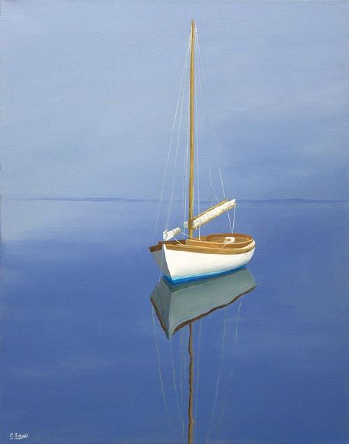 Moored Sailboat Poster Print by Carol Saxe - Item # VARPDXFAF1366CS