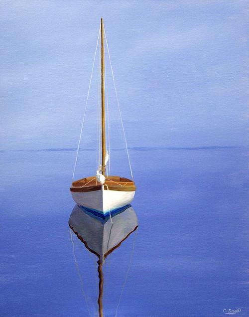 Moored Sailboat II Poster Print by Carol Saxe - Item # VARPDXFAF1370CS