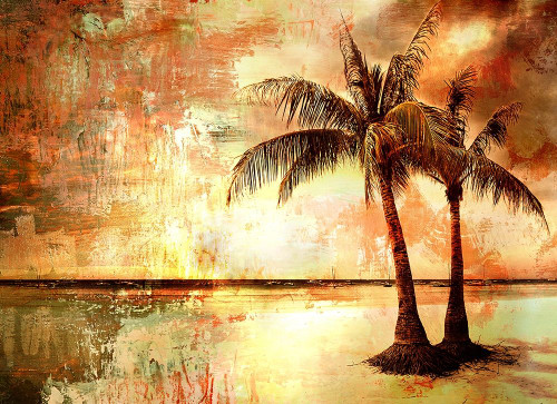 Tropical Sunset Poster Print by Anon. Anon. - Item # VARPDXFAF1376
