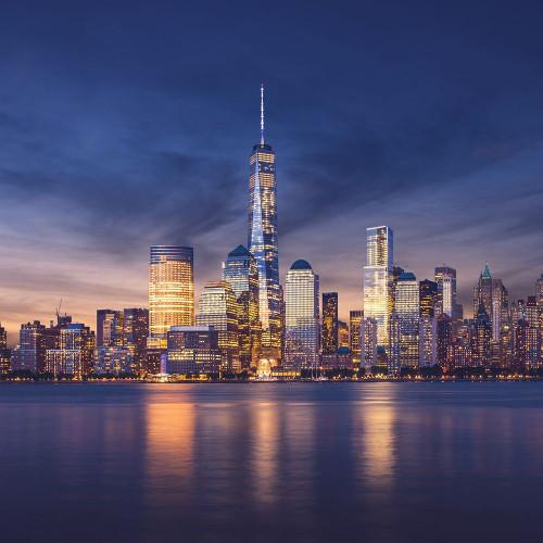 New York City-Manhattan Sunset Poster Print by Ilja  Masik - Item # VARPDXFAF1386