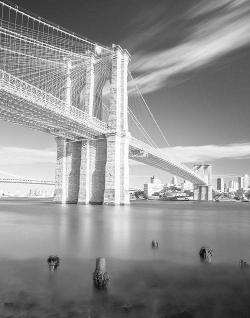 Brooklyn Bridge Black and White Poster Print by Marek Masik - Item # VARPDXFAF1388
