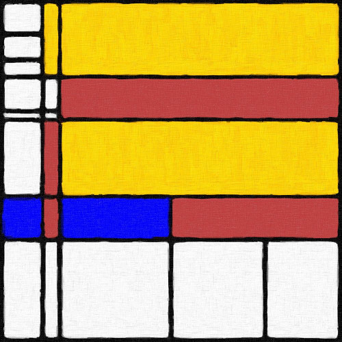 Abstract Modern in Mondrian Style Poster Print by Anthony Mcaulay - Item # VARPDXFAF1407