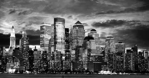 Manhattan Night Light I Poster Print by Anonymous Anonymous - Item # VARPDXFAF8047