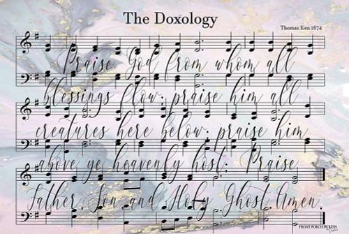 The Doxology Lyrics Poster Print by Front Porch Pickins Front Porch Pickins - Item # VARPDXFPP109
