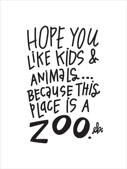 This Place is a Zoo Poster Print by Erin Barrett - Item # VARPDXFTL127