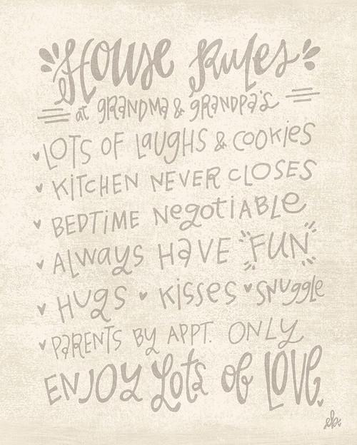 House Rules at Grandma and Grandpas Poster Print by Erin Barrett - Item # VARPDXFTL196