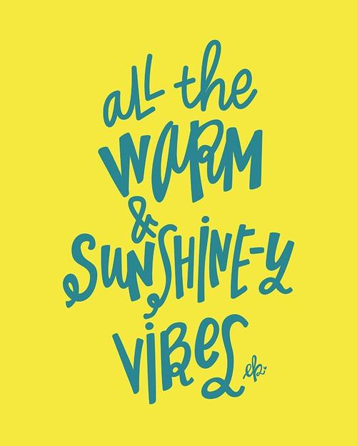 Warm and Sunshiny Vibes Poster Print by Erin Barrett - Item # VARPDXFTL277