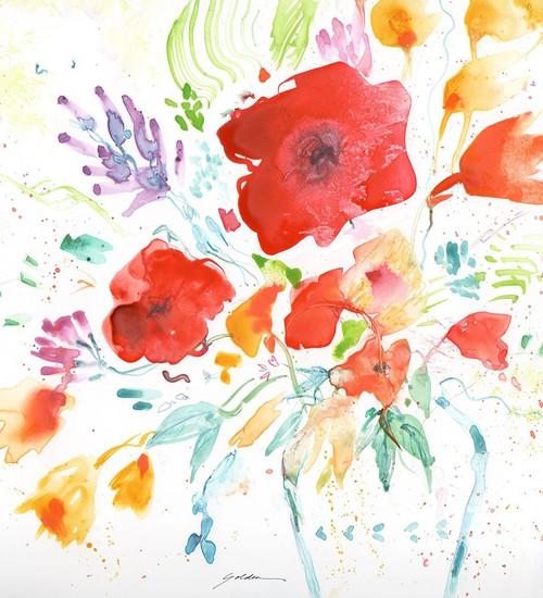 Bright Bouquet Poster Print by Sheila Golden - Item # VARPDXG2056D