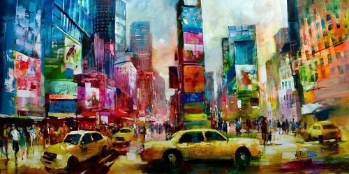 Taxi NY Poster Print by Willem Haenraets - Item # VARPDXGA0100464