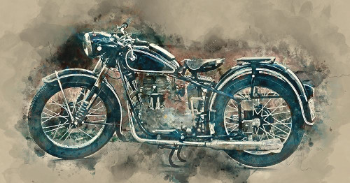 My motorbike Poster Print by James Hurk - Item # VARPDXGA0100470