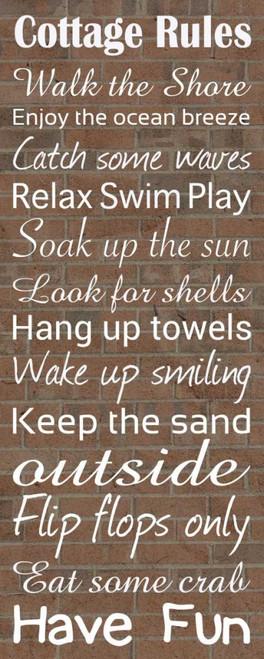 Cottage Rules Brick Poster Print by Lauren Gibbons - Item # VARPDXGLPL039B