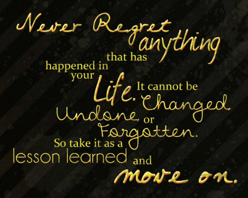 Never Regret Poster Print by Lauren Gibbons - Item # VARPDXGLRC009A