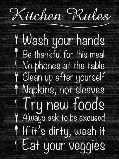 Kitchen Rules Poster Print by Lauren Gibbons - Item # VARPDXGLRC049B