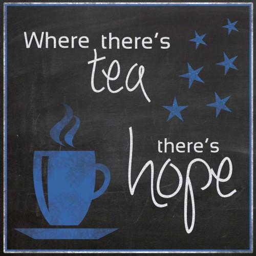 Blue Tea Hope Poster Print by Lauren Gibbons - Item # VARPDXGLSQ041F