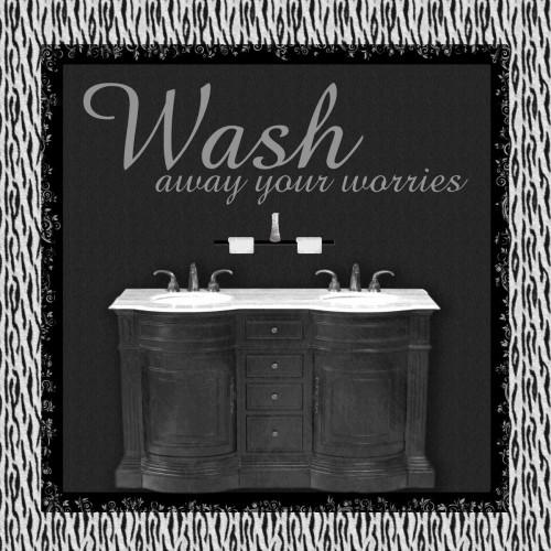 Sink Zebra B Poster Print by Lauren Gibbons - Item # VARPDXGLSQ051B
