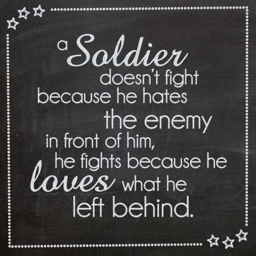 A Soldier Doesnt Fight Poster Print by Lauren Gibbons - Item # VARPDXGLSQ073D
